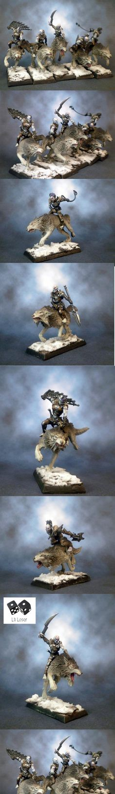 Dark Elves, Wolves, The Hounds of Naggarond; Converted Dark Riders