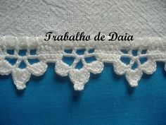 Crochet edging with corner ~~ Crochet Edging Patterns, Crochet Lace Edging, Crochet Borders, Crochet Trim, Filet Crochet, Crochet Designs, Crochet Doilies, Crochet Yarn, Crochet Stitches