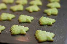 Green Tree Cookies (Gretchen's favorite) These simple little cookies are my favorite. I usually increase the Almond flavoring. Give me a tin, a glass of milk and White Christmas on DVD and I am set.