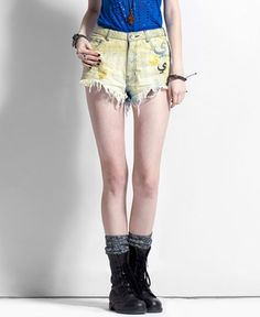 Cute shorts!!! I like the combat boots though ;)