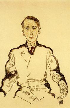 Egon Schiele, Portrait of Heinrich Rieger, 1917