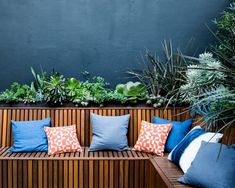 Surry Hills – From Classic to Contemporary - Growing Rooms - Landscapes For Outdoor Living Deck Seating, Garden Seating, Outdoor Living, Outdoor Decor, Outdoor Ideas, Backyard Ideas, Sandstone Wall, Surry Hills, Deck Decorating