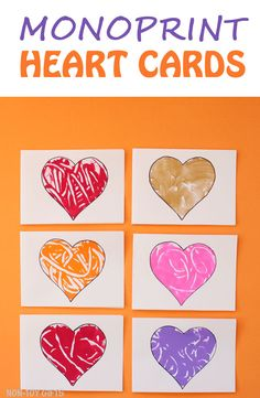 Easy heart cards for kids to make for Mother's Day for mom and grandma. Easy craft for preschoolers. Perfect for Valentines. too. | at Non-Toy Gifts