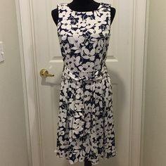 For Sale: Navy & White Sleeveless Dress for $25