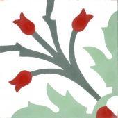 Zementfliesen von Articima: Zementfliese Nr. 204, rot, weiss