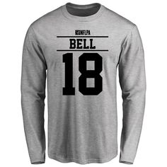 Reggie Bell Player Issued Long Sleeve T-Shirt - Ash