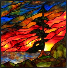 Gallery :: Sunrise Stained Glass Would make a great silk painting Stained Glass Paint, Stained Glass Panels, Stained Glass Projects, Stained Glass Patterns Free, Stained Glass Designs, Mosaic Glass, Glass Art, Mosaic Art, Glass Door