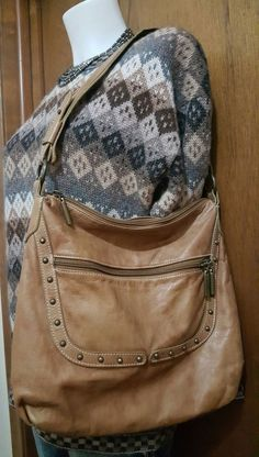 "AVORIO ""The Original"" 100% brown genuine leather hobo shoulder bag Italy Boho | Clothing, Shoes & Accessories, Women's Handbags & Bags, Handbags & Purses | eBay!"