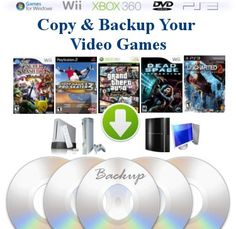 Copy and Backup Video Games, Music or Movie