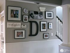 picture wall ideas How to Hang a Picture - The Easy Way. Create a picture wall or gallery wall with these easy tips and steps. This hanging picture frame tip will save you! Hanging Pictures On The Wall, Family Pictures On Wall, Family Picture Frames, Hanging Picture Frames, Diy Picture Frames On The Wall, Hanging Photos, Hang Pictures, Family Photo Walls, Photo Hanging
