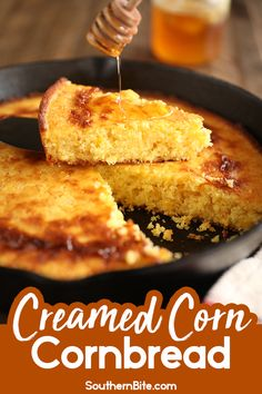 This recipe for Creamed Corn Cornbread is the perfect dense moist cornbread with tons of corn flavor and just a touch of sweetness! Creamed Corn Cornbread, Jiffy Cornbread Recipes, Creamed Corn Recipes, Sweet Cornbread Recipe With Creamed Corn, Our Daily Bread, Food Stamps, Easy Bread, Sweet Bread, Baked Goods
