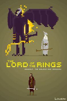 Pixel Art Lord of the ring by Loweak.deviantart.com