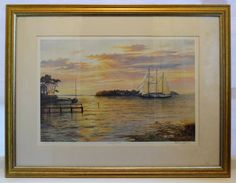 BEAUTIFUL Keith Cast Limited Edition Print, No. 551/850, very large, very serene - SpearmintGallery on Etsy