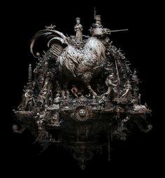 Kris Kuksi's divine imaginings