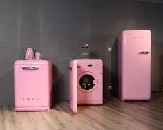 smeg washing machine wmfab pink madeinitaly. Black Bedroom Furniture Sets. Home Design Ideas