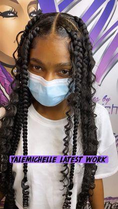 Box Braids Hairstyles For Black Women, Braids Hairstyles Pictures, Braided Hairstyles For Wedding, Baddie Hairstyles, Braids For Black Hair, Easy Hairstyles, Braids On Curly Hair, Hairstyles With Braiding Hair, Black Girl Natural Hairstyles