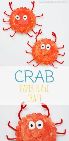 Crab Paper Plate Cra