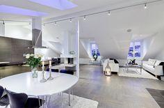 Luxury white toned penthouse