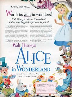 Vintage Disney Alice in Wonderland: First Full Page Advertisement for Alice - Life Magazine January 22, 1951