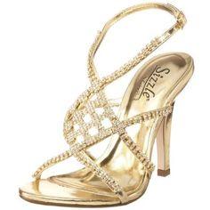 Sizzle by Coloriffics Women's Broadway Sandal Bridesmaid Shoes, Prom Shoes, Wedding Shoes, Bridal Shoes, Bridesmaids, Gold Shoes, Gold Sandals, Minimalist Shoes, Minimalist Fashion