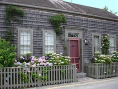 Nantucket love the trellis for roses to grow on!  also on the roof!!