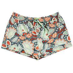 Vera Bradley Pajama Shorts in Nomadic Floral ($28) ❤ liked on Polyvore featuring intimates, sleepwear, pajamas, nomadic floral, vera bradley, jersey knit pajamas, summer sleepwear, summer pajamas and summer pjs