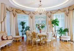 "Dining Room by Tatiana Bozhovskaya's ""Studio Exclusive Interior"".  Furniture by Fratelli Radice"