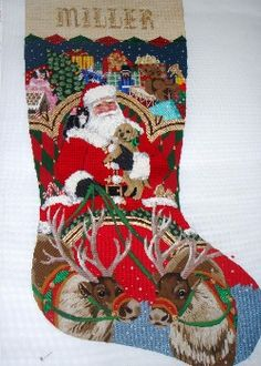 needlepoint christmas stocking canvas | Needlepointfriendzi ...