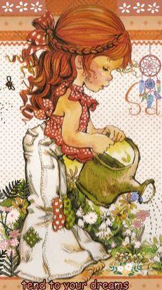 Sarah Key, Holly Hobbie, Garden Illustration, Cute Illustration, Vintage Cards, Vintage Postcards, Sara Key Imagenes, Jolie Photo, Illustrations