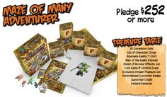 Maze of Many Level Supporter Rewards for Kickstarter Campaign #GoblinsGame