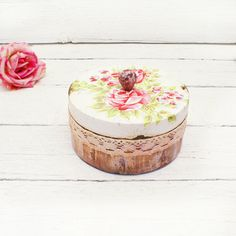 Vintage Roses Wooden BoxdecoupageBox for jewelry by Alenahandmade