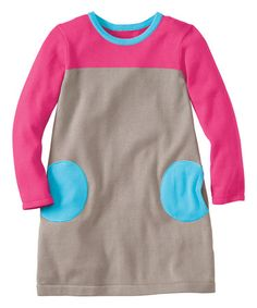 Love this Beige Circle Pocket Sweater Dress - Infant, Toddler & Girls on #zulily! #zulilyfinds