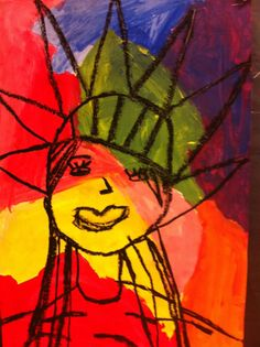 Happily Ever After...An Art Teacher's Fairy Teal blog: Lady Liberty inspired by Peter Max