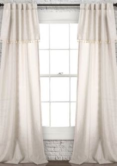 Lush Decor Ivy Tassel Window Panel Set - Neutral - 40 X 84 Bed Curtains, Lace Curtains, Drapery Panels, Window Panels, Home Living Room, Living Spaces, Lush, Neutral Curtains, Blackout Panels