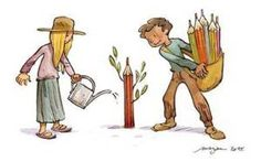 Τα πέντε χαρακτηριστικά του δάσκαλου που ξεχωρίζει… | Anna ' s Pappa blog Wise Men Say, Charlie Hebdo, Greek Alphabet, Blog Couture, Illustrations, Manga, Caricature, Disney Characters, Fictional Characters