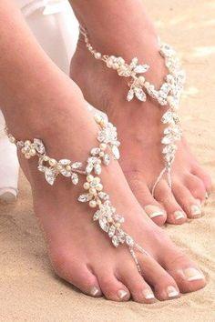 21 Beautiful Beach Wedding Shoes #wedding #weddingideas #beachwedding #weddingtrends #weddingshoes