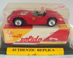 Solido Model Car Reedition 1956 Ferrari 500 TRC 1/43 scale.