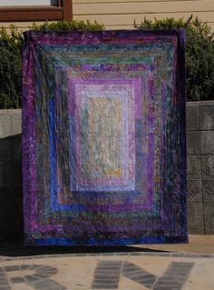 Big Block Jelly Roll Quilt from Hunter's Design Studio; love the colors.  Put this on point & it's. What I want to do with my kaffe & batiks. Dk