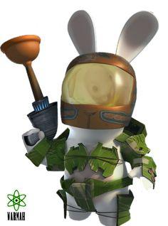 Render Jeux vidéo - Renders Robot lapin Cretin Rayman