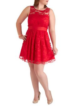 When the Night Comes Dress in Red, #ModCloth  WANT as a banquet dress!