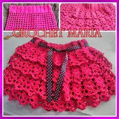 Vestidos Bebe Crochet, Crochet Skirts, Crochet Clothes, Crochet Toddler, Baby Girl Crochet, Crochet Baby Sweaters, Crochet Skirt Pattern, Baby Knitting Patterns, Beautiful Crochet