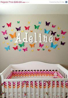 40 3d Butterfly Wall Art Circle Burst