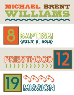 LDS Boy Wall Art. Great for baptism or shower gift.