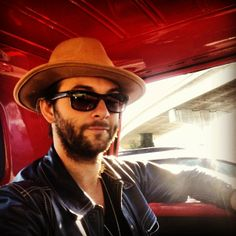 Keith in his truck! 2014! Beardy and YUMMY