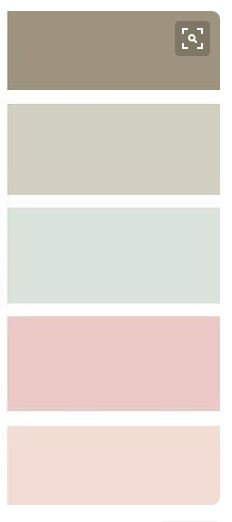 neautral and pastel color palette