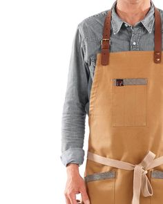 """DESIGN APRON with LEATHER straps Casual look aprons, barista uniforms, canvas aprons, hotel aprons, café aprons. Chefwear, modern aprons, kitchen aprons. We pride ourselves to have """"only the best"""" high quality fabrics, to provide a personal and honest service to all our customers! New TLEAD Apron #uniforms #workwear #delantales #tabliers #aprons #mandil #cocina #leatherapron #workwear #chefwear"""