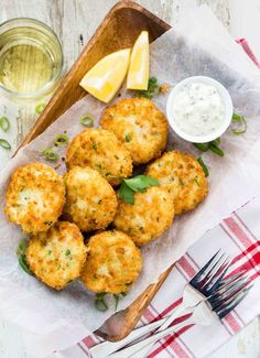 These Fish Cakes with Lemon Herb Mayo could turn any fish haters into fish lovers! They're super crispy and fluffy. Kids just love them.