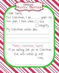 Free Templates For Letters Free Santa Letter & Envelope Printable  Pinterest  Envelopes .