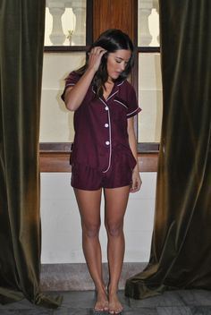 A silk pajama set makes early mornings INFINITELY better