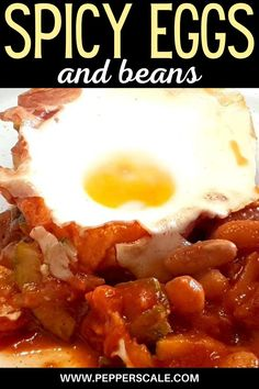 This recipe is quick to prepare and offers up a perfect combination of healthy proteins, delightful taste, and fiery flavor. All beans work well with the baked eggs, but kidney beans, black-eyed beans, or cannellini beans work best.#spicy #bakedeggs #beans #eggsandbeans #breakfastrecipes #eggrecipes #bakedeggswithspicybeans #spicybeansandegg Spicy Recipes, Egg Recipes, How To Cook Beans, Vegetable Puree, Black Eyed, Kidney Beans, Baked Eggs, Healthy Protein, Stuffed Jalapeno Peppers